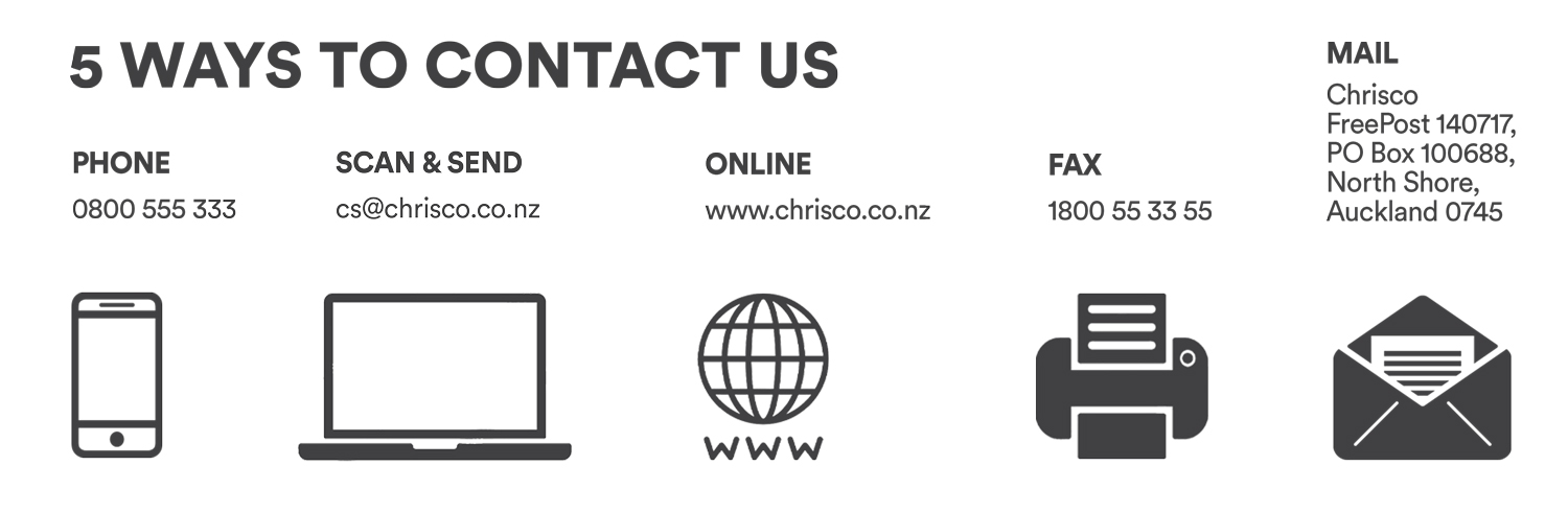 Contact Us - Chrisco Hampers New Zealand