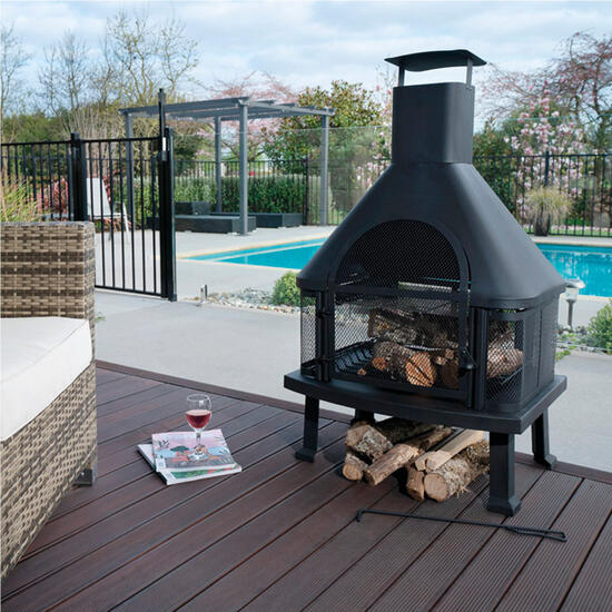 Hamper: Premium Outdoor Patio Fireplace Log Burner | Code: 77689